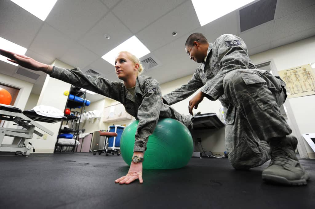 Military Occupational therapy assistants at Malstrom Air Force Base